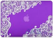 Вид 2 - Чехол Kuzy Lace Print Rubberized Case for MacBook Air 13 Purple