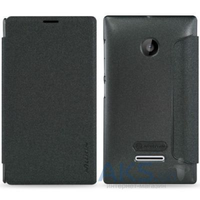 Чехол Nillkin Sparkle Leather Series Nokia Lumia 435 Dual Sim Black