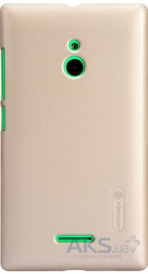 Чехол Nillkin Super Frosted Shield case for Nokia XL Gold