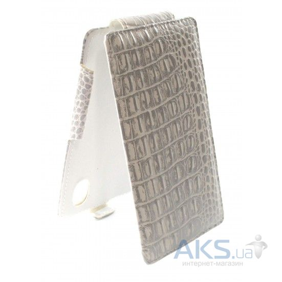 Чехол Sirius flip case for Fly IQ4403 Energie 3 Silver Croc