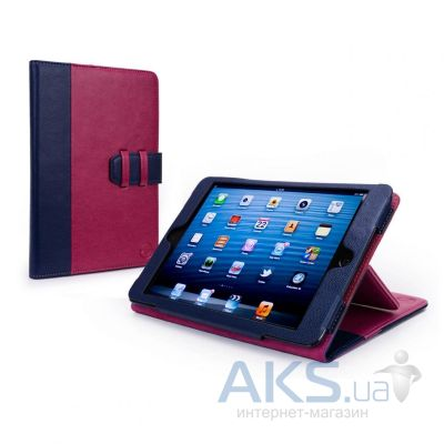 Чехол для планшета Tuff-Luv Manhattan Leather Case Cover with Sleep Function for Apple iPad Mini Navy/Berry Pink (I7_22)