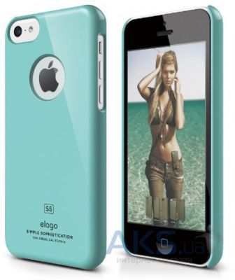 Чехол Elago Slim Fit Case For iPhone 5С Coral Blue