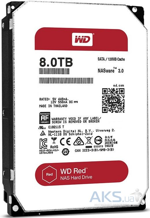 Жесткий диск Western Digital 3.5 SATA 3.0 8TB 128MB Red