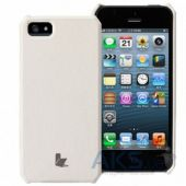 Чехол JisonCase Fashion Wallet Case for iPhone 5/5S White (JS-IP5-01H00)