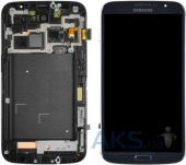 Дисплей (экран) для телефона Samsung Galaxy Mega 6.3 I9200, Galaxy Mega 6.3 I9205 + Touchscreen with frame Original Dark Blue
