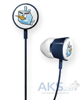 Наушники (гарнитура) Gear4 Angry Birds Stereo HeadphonesTweeters Space Ice Bird for iPad/iPhone/iPod
