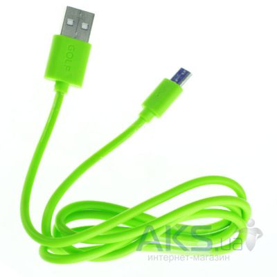 Кабель USB GOLF Rainbow Series micro USB Cable Green