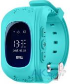 Умные часы Smart Baby W5 (Q50) c GPS трекером (app. WhereYouGo) Blue