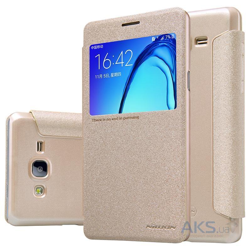 Чехол Nillkin Sparkle Leather Series Samsung G550 Galaxy On5 Gold