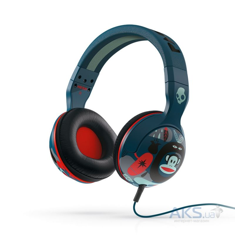 Наушники (гарнитура) Skullcandy HESH 2 Paul Frank/Navy/Red (S6HSFZ-330)
