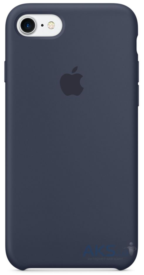 Чехол Apple Silicone Case iPhone 7, iPhone 8 Midnight Blue_High Copy