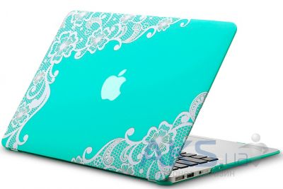 Чехол Kuzy Lace Print Rubberized Case for MacBook Air 13 Turquoise