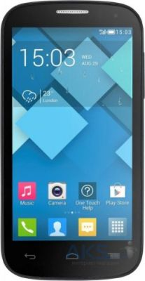 Сенсор (тачскрин) для Alcatel One Touch C5 5036D, One Touch C5 5036X Black