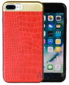Чехол Totu Leather Case Apple iPhone 7 Plus Matte Red