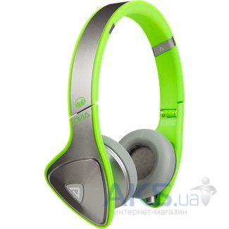Наушники (гарнитура) Monster DNA On-Ear Headphones Silver on Neon Green (MNS-128536-00)