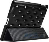 Чехол для планшета ION Funky Punky Leather Series Apple iPad 4 Black (i1129- LBK010)