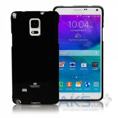 Чехол Mercury TPU Jelly Color Series Samsung N910 Galaxy Note 4 Black