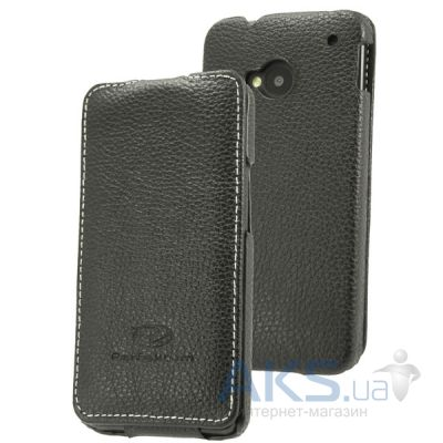 Чехол Perfektum Leather Flip series HTC One (M7) Black