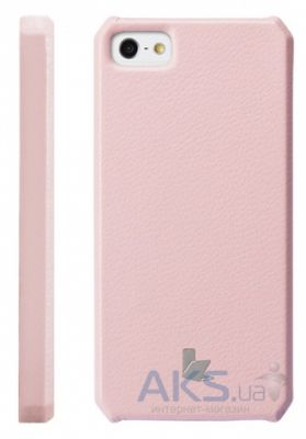 Чехол JisonCase Smart case of folded edge for iPhone 5 Pink (JS-IP5-01H35)