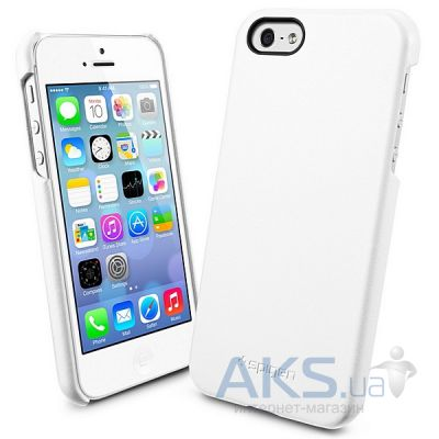 Чехол SGP Case Genuine Leather Grip Series Apple iPhone 5, iPhone 5S, iPhone 5SE White (SGP09602)