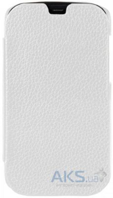 Чехол Melkco Book leather case for HTC One SV White (O2ONSTLCFB2WELC)