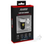 Зарядное устройство Ferrari 2-USB Car Charger 2.1A with Apple Connector 30-pin/Lightning Black (FERUCC2UPBL)