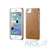 Чехол Xoomz Litchi Pattern Leather Electroplating Apple iPhone 5, iPhone 5S, iPhone 5SE Brown