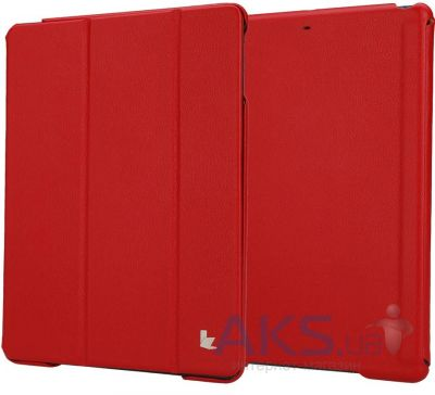 Чехол для планшета JisonCase Ultra-Thin Smart Case for iPad 4/3/2 Red (JS-IPD-07I30)