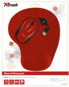 Вид 5 - Компьютерная мышка Trust Primo Mouse with mouse pad (20427) Red