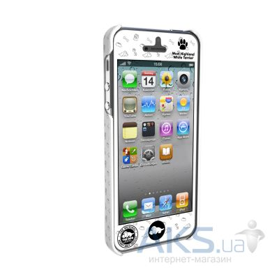 Вид 2 - Чехол Qual for iPhone 5 THE DOG West High and White (QL1111WH)