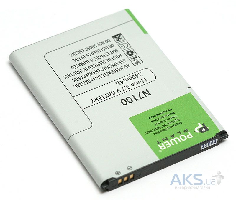 Аккумулятор Samsung N7100 Galaxy Note 2 / EB595675LU / DV00DV6111 (2400 mAh) PowerPlant