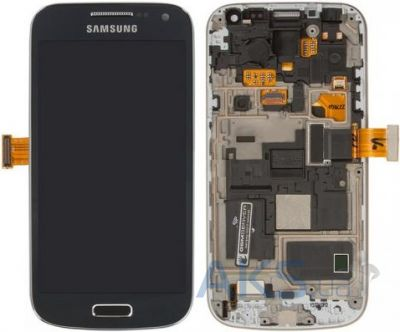 Дисплей (экраны) для телефона Samsung Galaxy S4 mini I9190 + Touchscreen with frame Original Blue