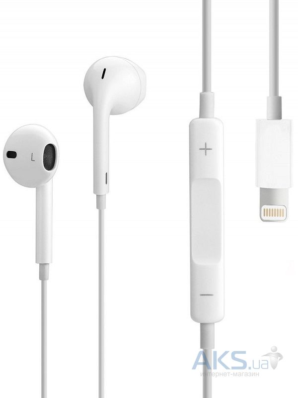 Гарнитура для телефона Apple EarPods with Lightning Connector (MMTN2ZM A) 94490380c35a3