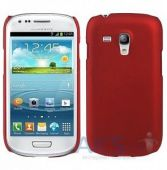 Чехол Plastic cover case for Samsung i8190 Galaxy S3 mini Red