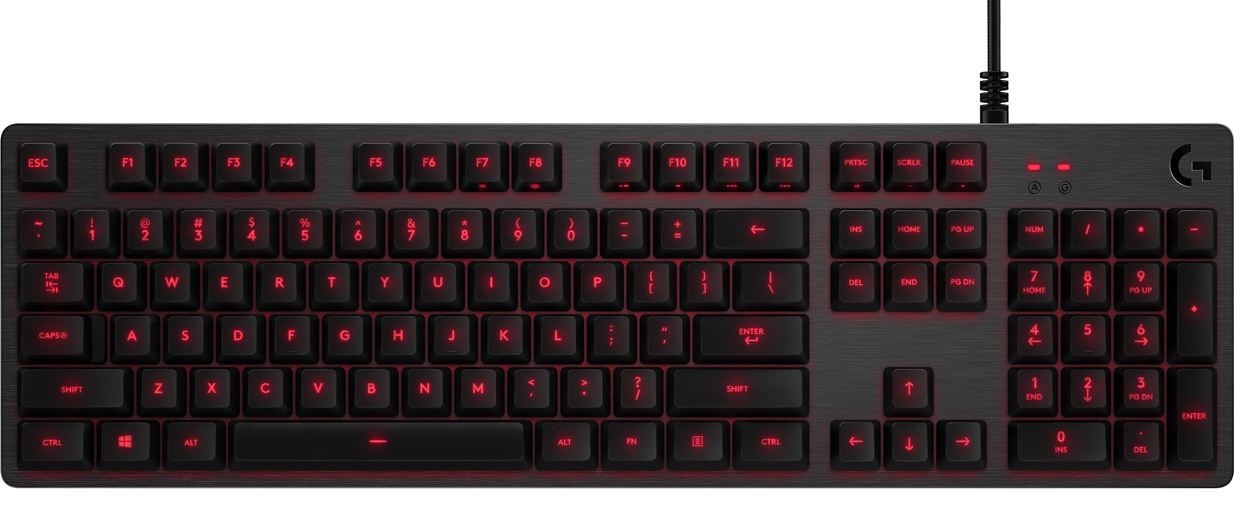 Клавиатура Logitech Mechanical G413 USB (920-008309) Carbon/Red