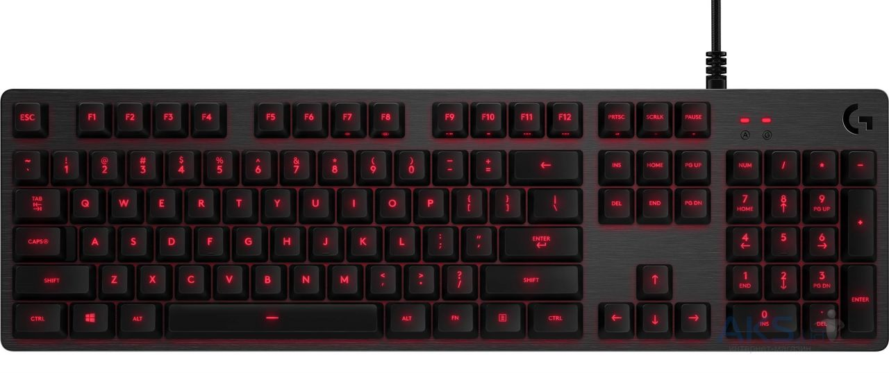 Вид 2 - Клавиатура Logitech Mechanical G413 USB (920-008309) Carbon/Red