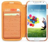 Вид 3 - Чехол Zenus Masstige Lettering Diary Series Samsung i9500 Galaxy S4 Orange
