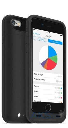 Чехол Mophie Space Pack 32 GB 3300 mAh for iPhone 6/6S (3001-SP-IP6-32GB-BLK) Black