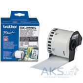 Картридж Brother QL-1060N/ QL-570 (62mm x 30.48M) (DK22205) Black
