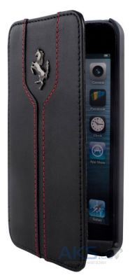 Чехол Ferrari Book leather case for iPhone 5C Black (FEMTFLBKPMBL)