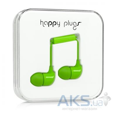 Наушники (гарнитура) Happy Plugs Headphones In-Ear Green