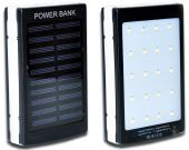 Внешний аккумулятор power bank MANGO Solar+LED 2USB 10000 mAh Black