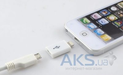 NICHOSI Universal Micro USB to iPhone 5 White