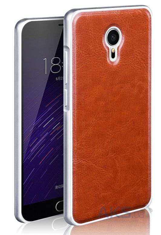 Чехол Mofi Metal Leather Series Meizu MX5 Brown