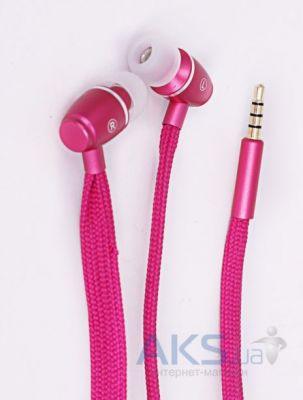 Наушники (гарнитура) Miracase Lace In-ear (ME802) Hot Pink