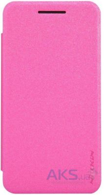 Чехол Nillkin Sparkle Leather Series Asus ZenFone 4 A400CXG Pink