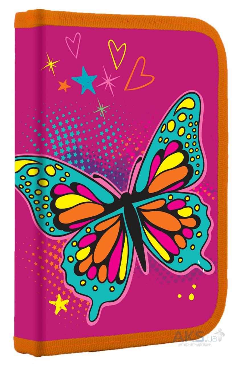 Пенал твердый одинарный с клапаном 1 Вересня Butterfly (531793)