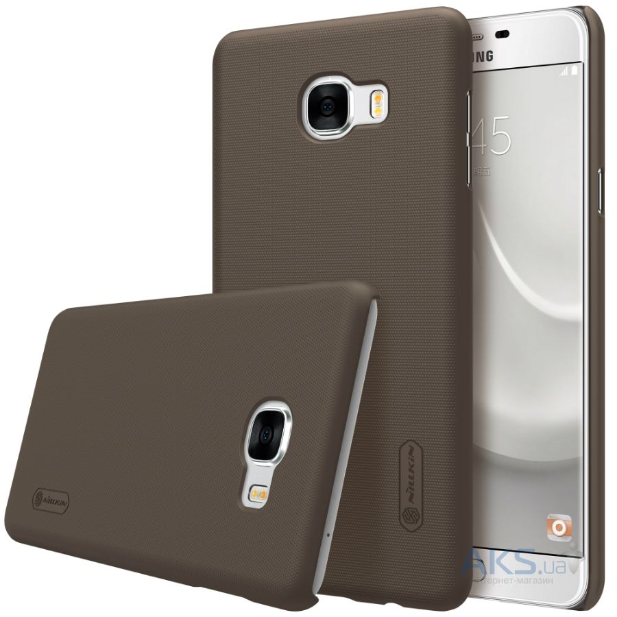 Чехол Nillkin Super Frosted Shield Samsung Galaxy C7 Brown