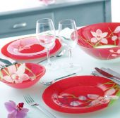 Столовый сервиз Luminarc Red Orchis G0663