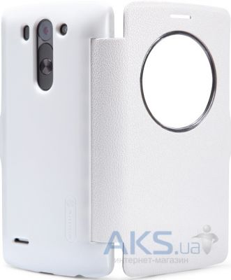 Чехол Nillkin Fresh Leather Series LG Optimus G3s D724 White